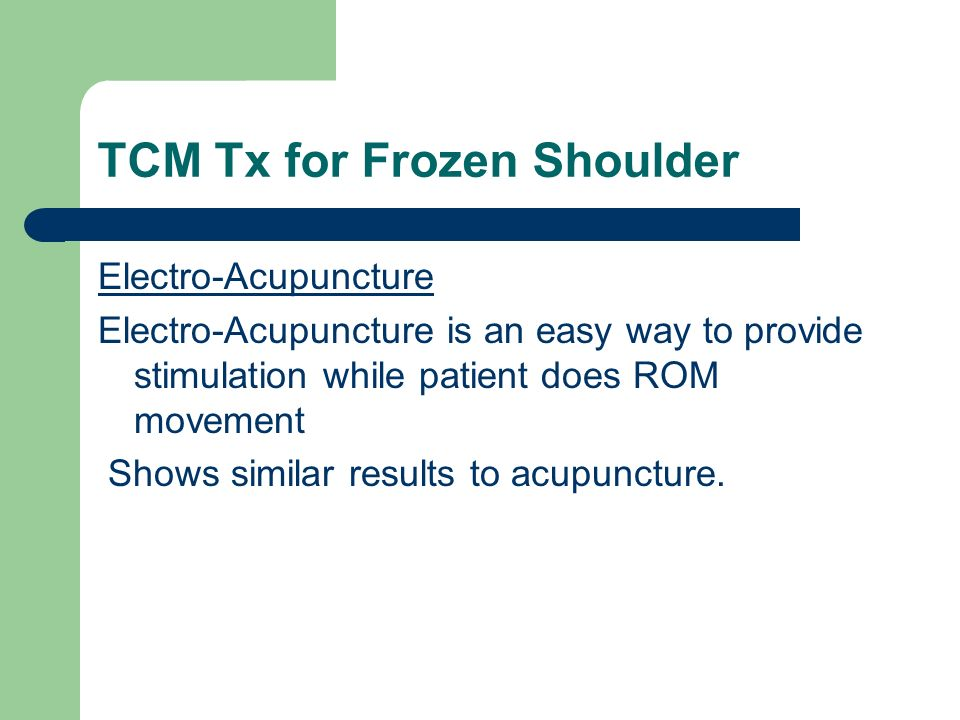 TCM Tx for Frozen Shoulder