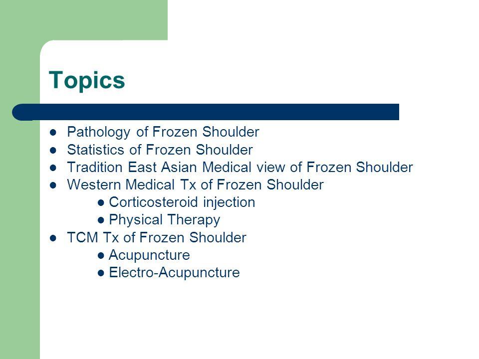 Topics Pathology of Frozen Shoulder Statistics of Frozen Shoulder