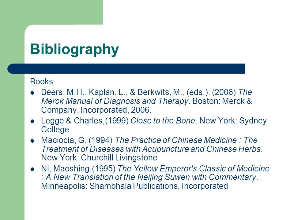 BibliographyBooks.