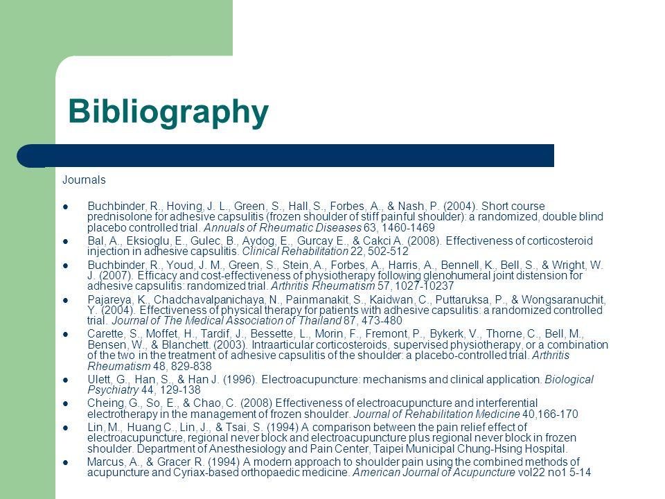 Bibliography Journals