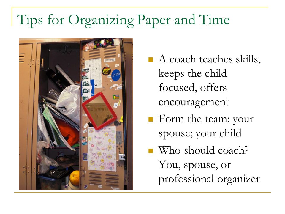 Tips for Organizing Paper and Time