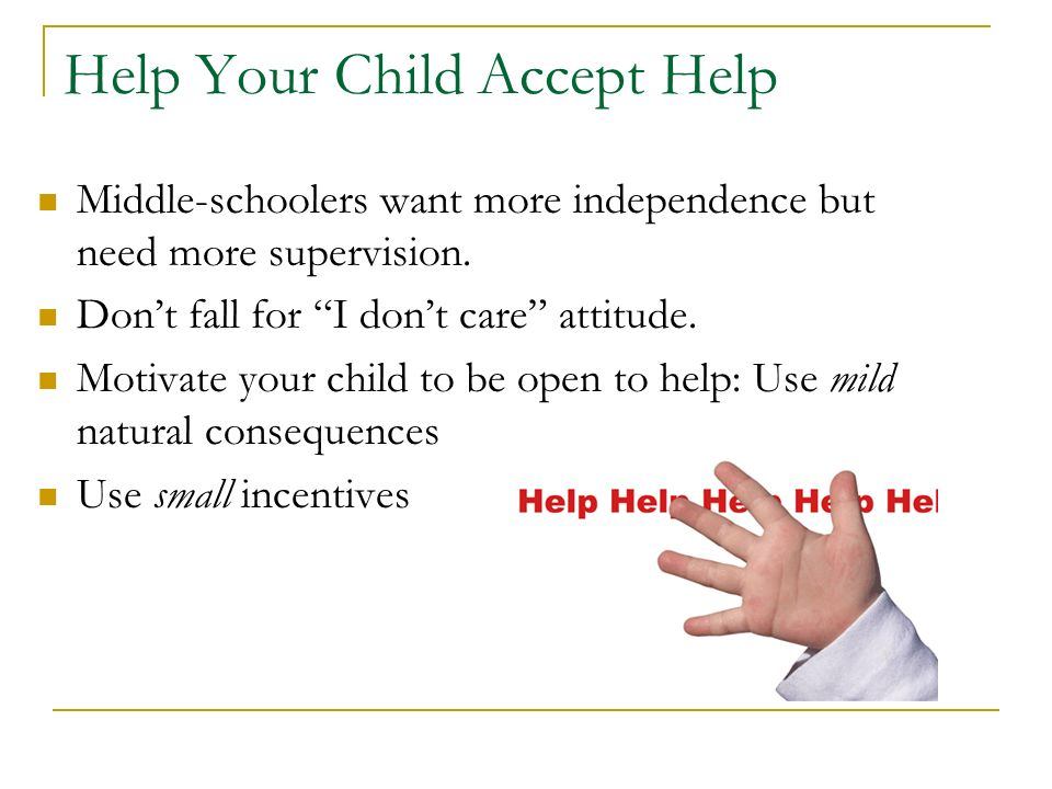 Help Your Child Accept Help