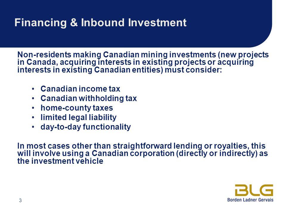 Financing & Inbound Investment