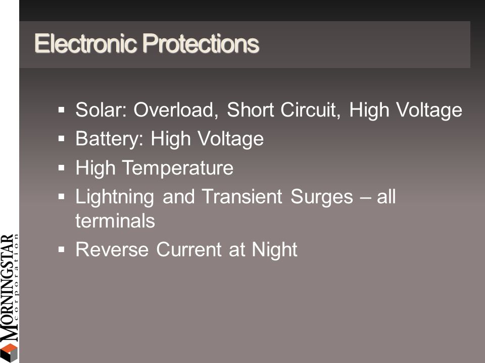 Electronic Protections