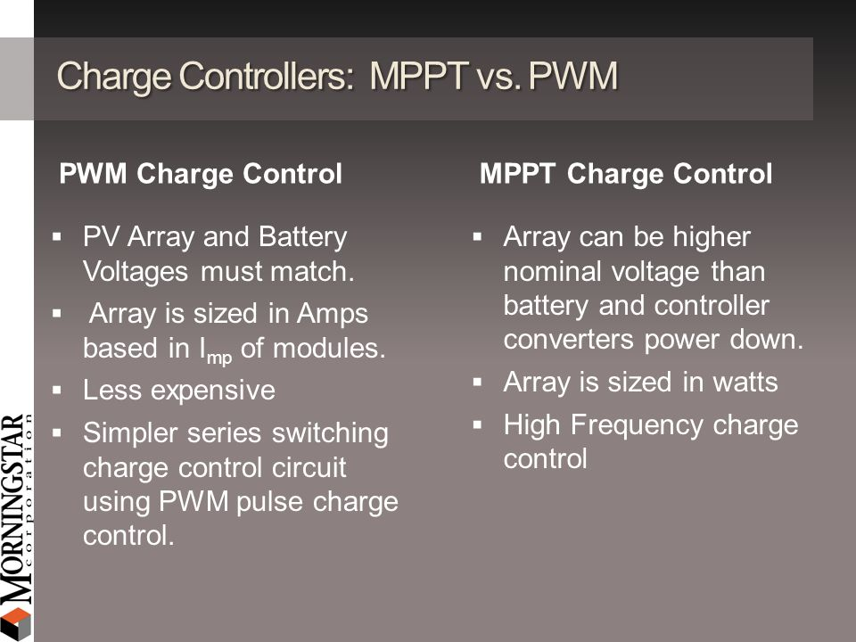 Charge Controllers: MPPT vs. PWM