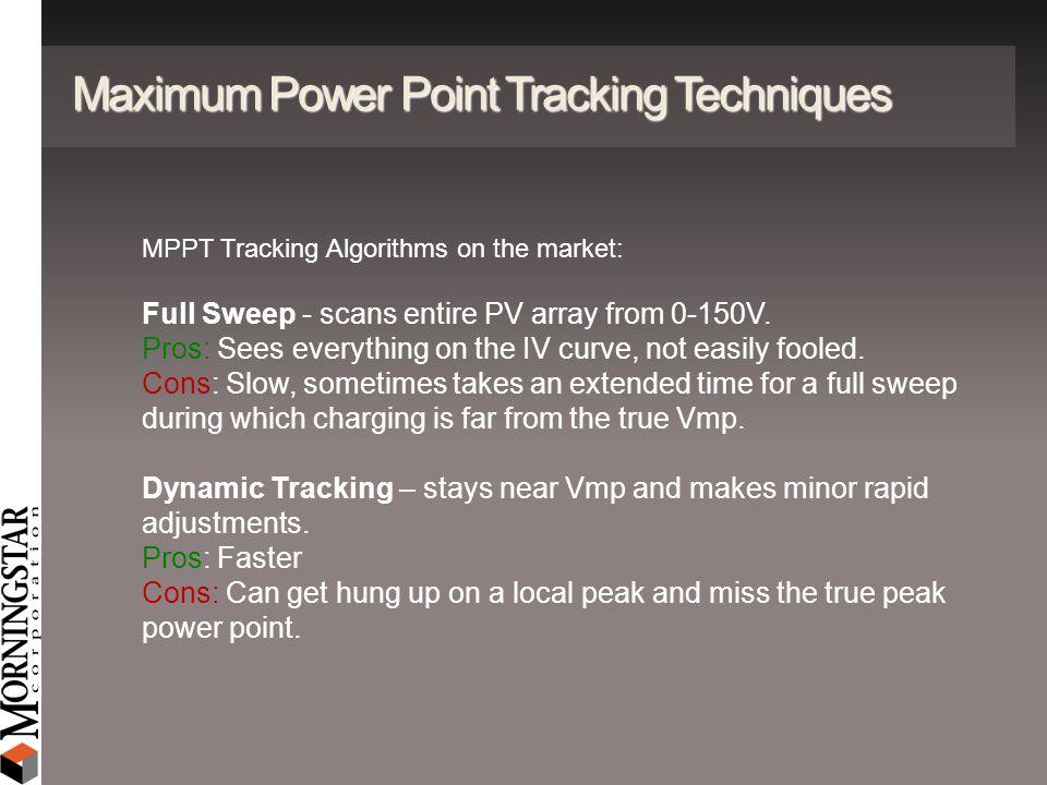 Maximum Power Point Tracking Techniques