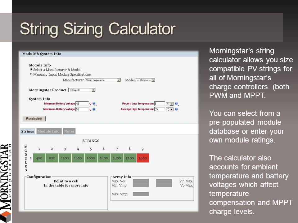 String Sizing Calculator