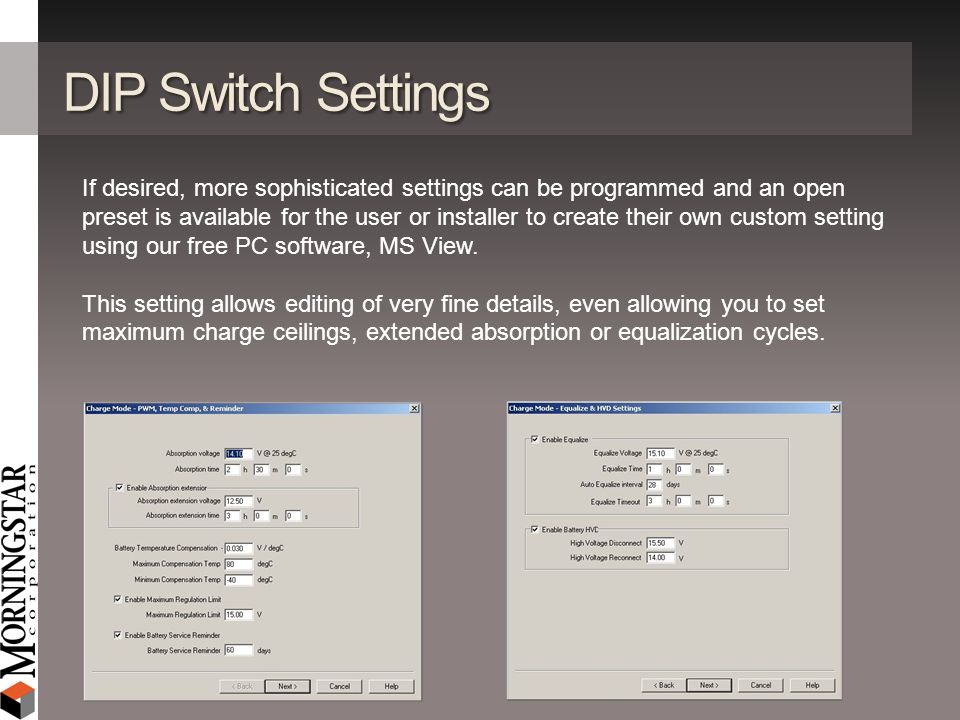 DIP Switch Settings