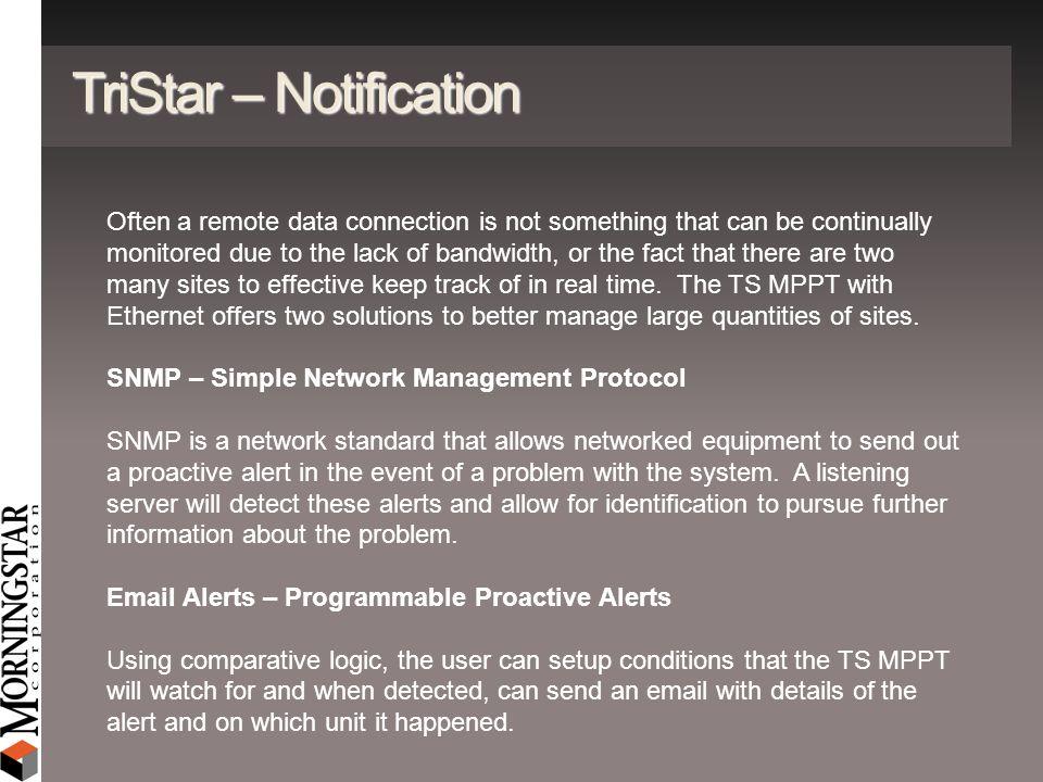 TriStar – Notification