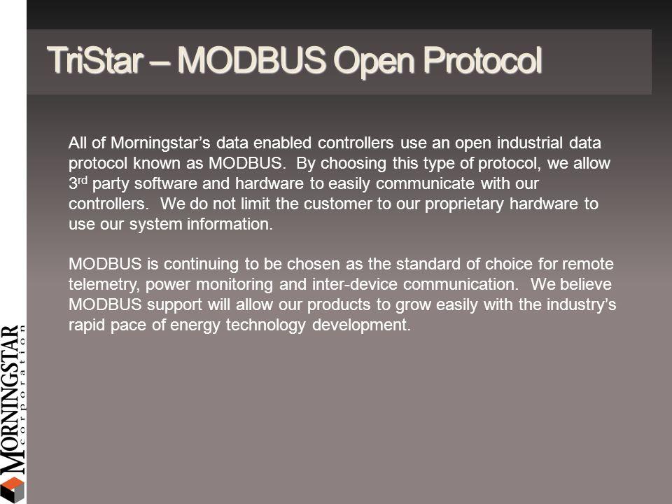 TriStar – MODBUS Open Protocol