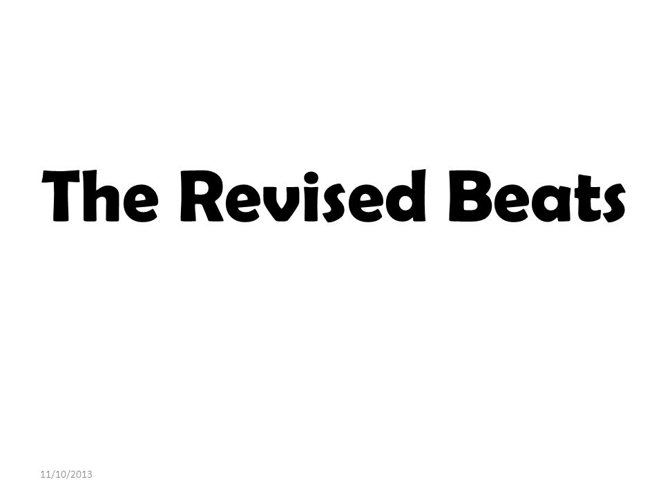 The Revised Beats 3/25/2017