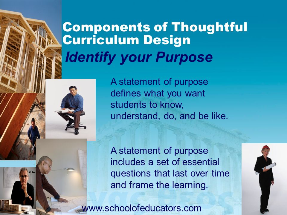 Components of Thoughtful Curriculum Design