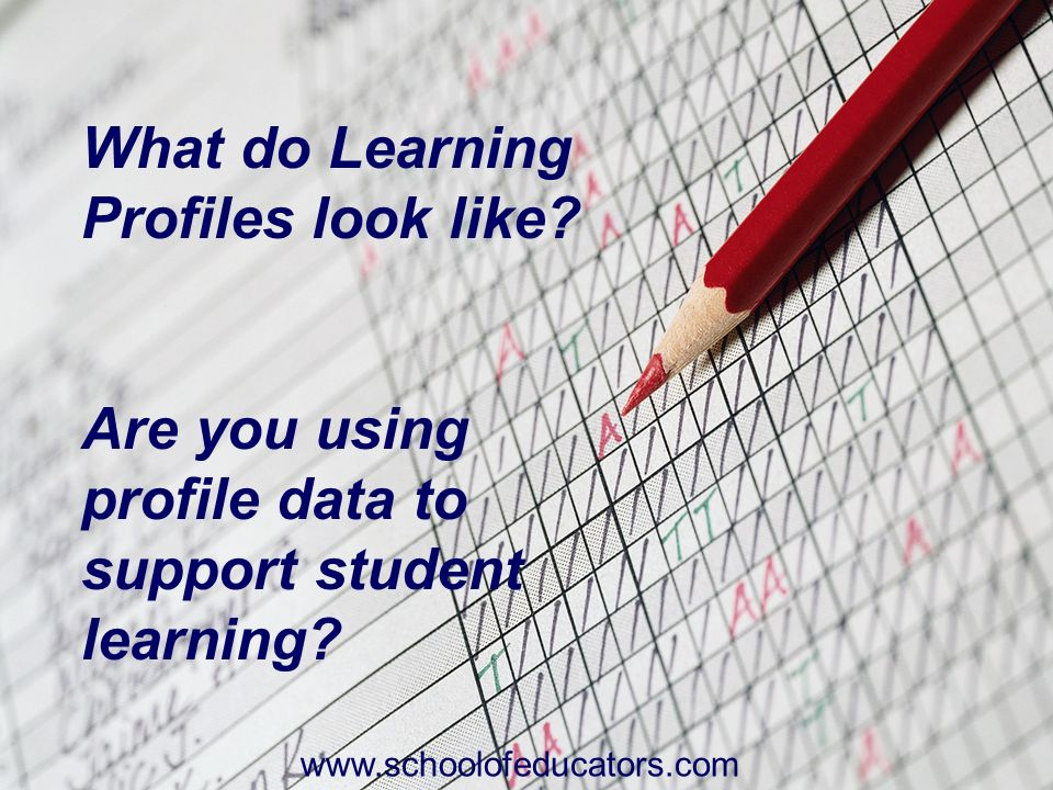 What do Learning Profiles look like