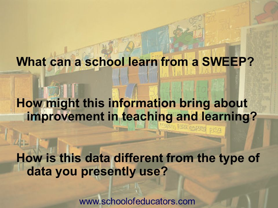 What can a school learn from a SWEEP