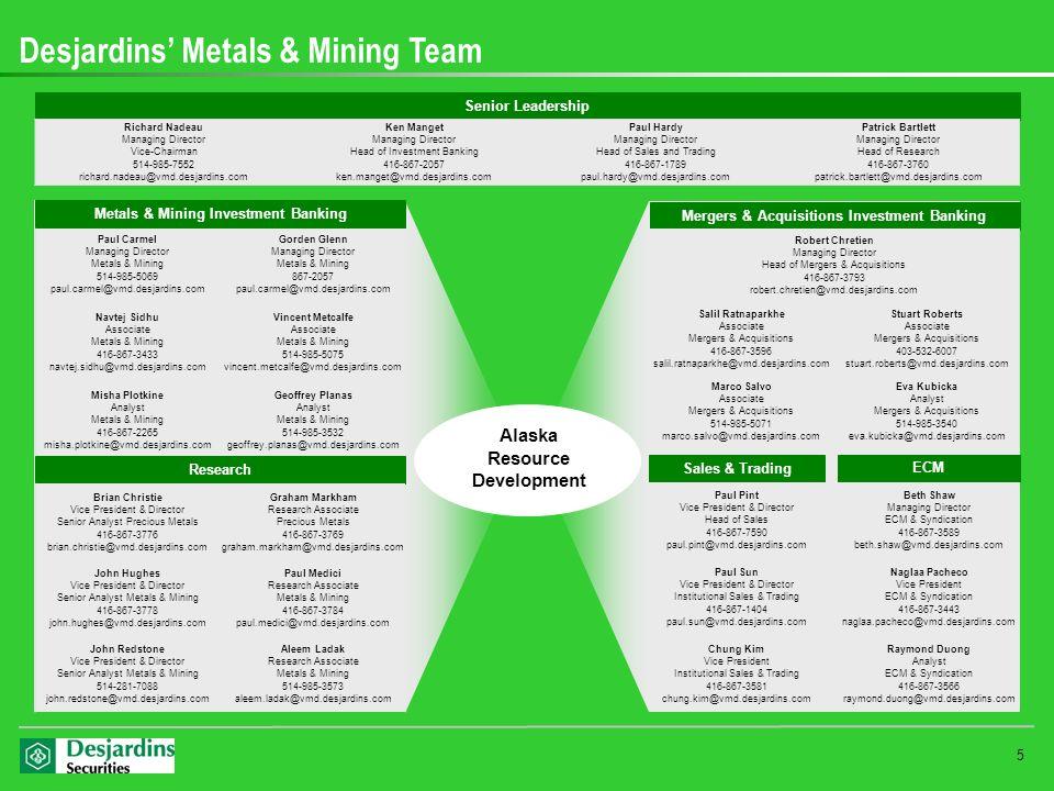 Desjardins' Metals & Mining Team
