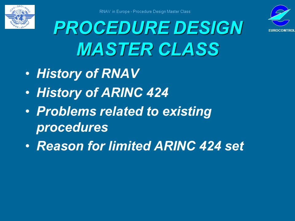 PROCEDURE DESIGN MASTER CLASS