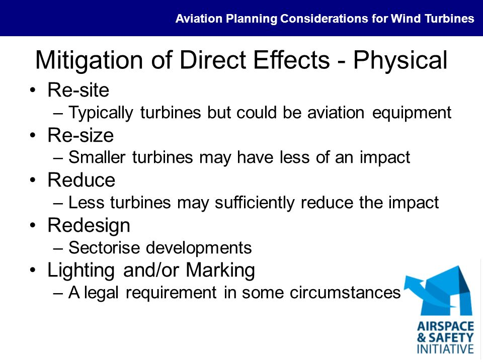 Mitigation of Direct Effects - Physical