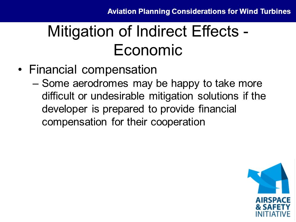 Mitigation of Indirect Effects - Economic