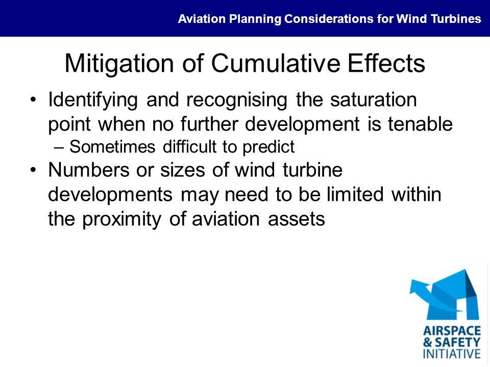 Mitigation of Cumulative Effects