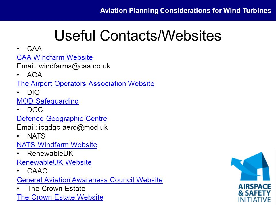 Useful Contacts/Websites