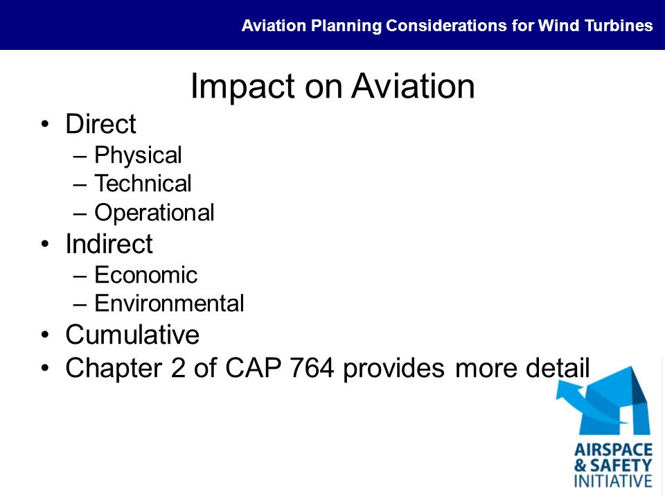 Impact on Aviation Direct Indirect Cumulative