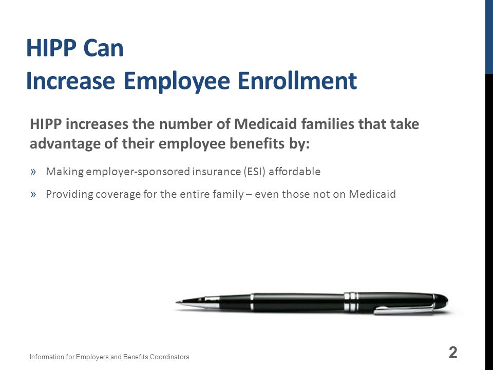 HIPP Can Increase Employee Enrollment