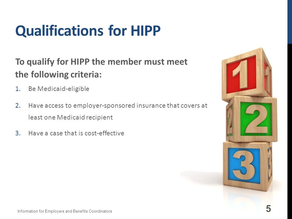 Qualifications for HIPP
