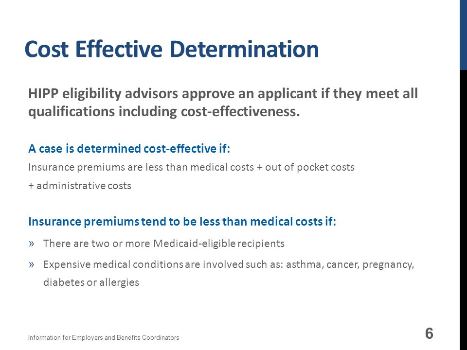 Cost Effective Determination