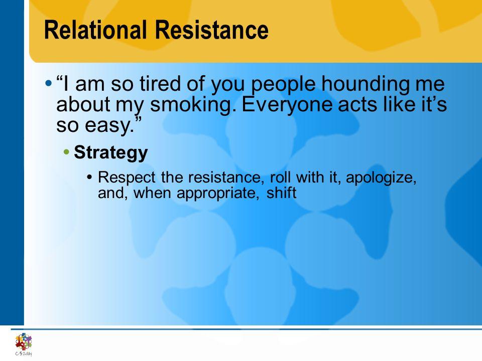 Relational Resistance