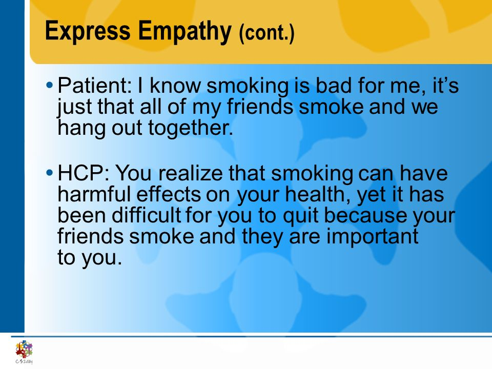Express Empathy (cont.)