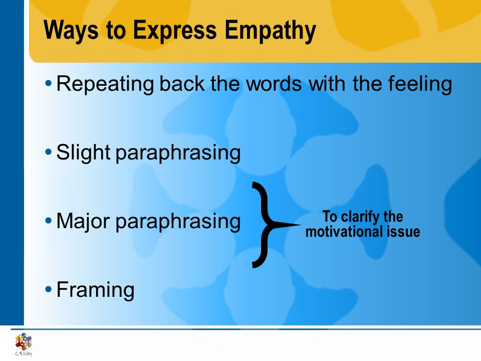 Ways to Express Empathy