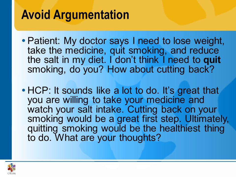 Avoid Argumentation