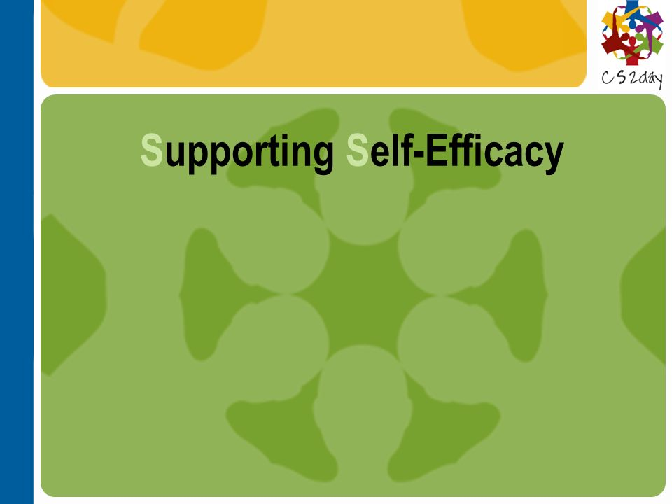 Supporting Self-Efficacy