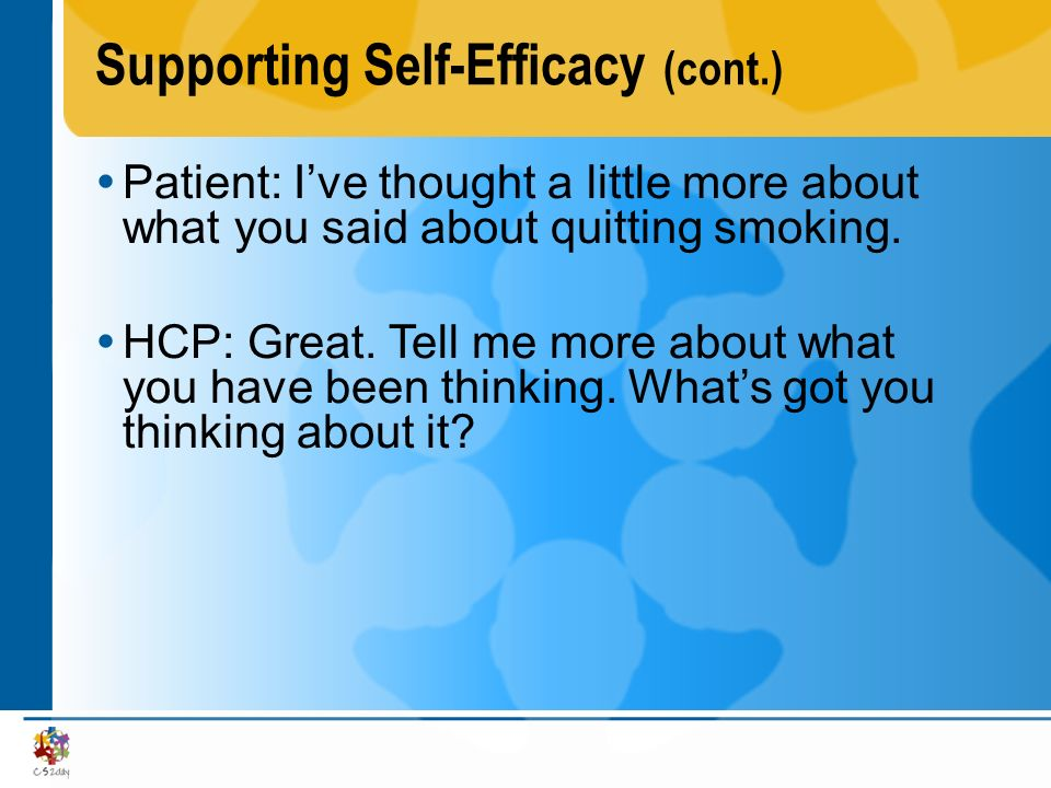 Supporting Self-Efficacy (cont.)