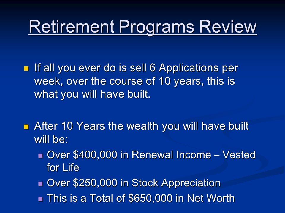 Retirement Programs Review