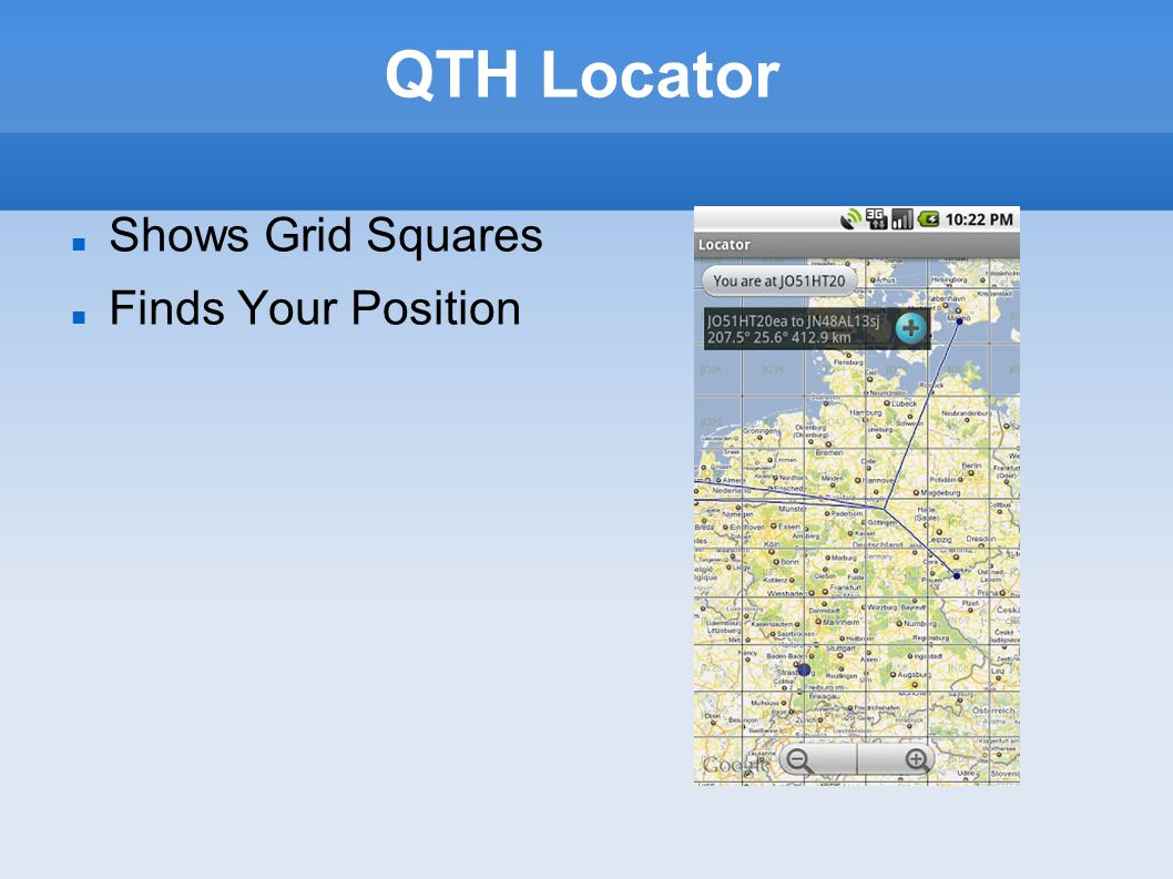 QTH Locator Shows Grid Squares Finds Your Position