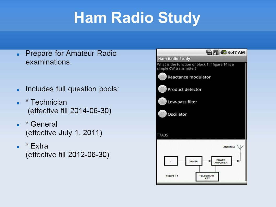 Ham Radio Study Prepare for Amateur Radio examinations.