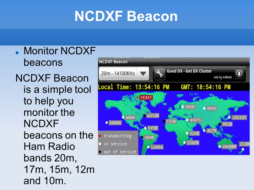 NCDXF Beacon Monitor NCDXF beacons