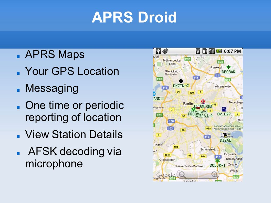 APRS Droid APRS Maps Your GPS Location Messaging