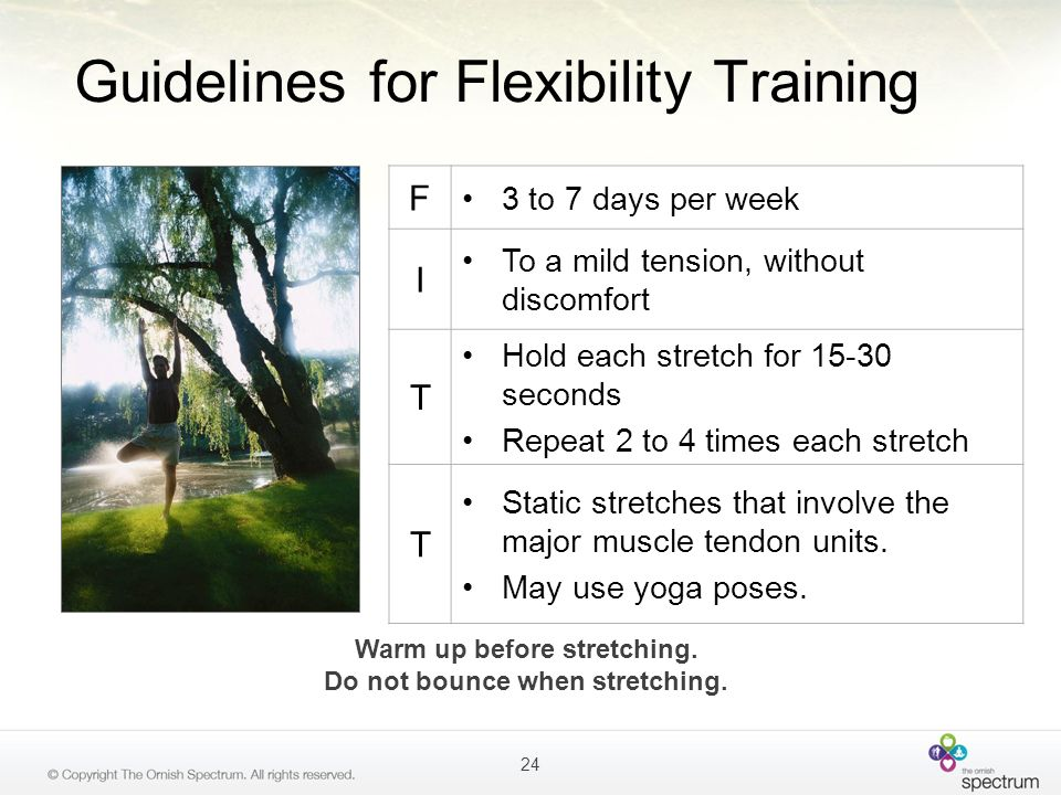 Guidelines for Flexibility Training