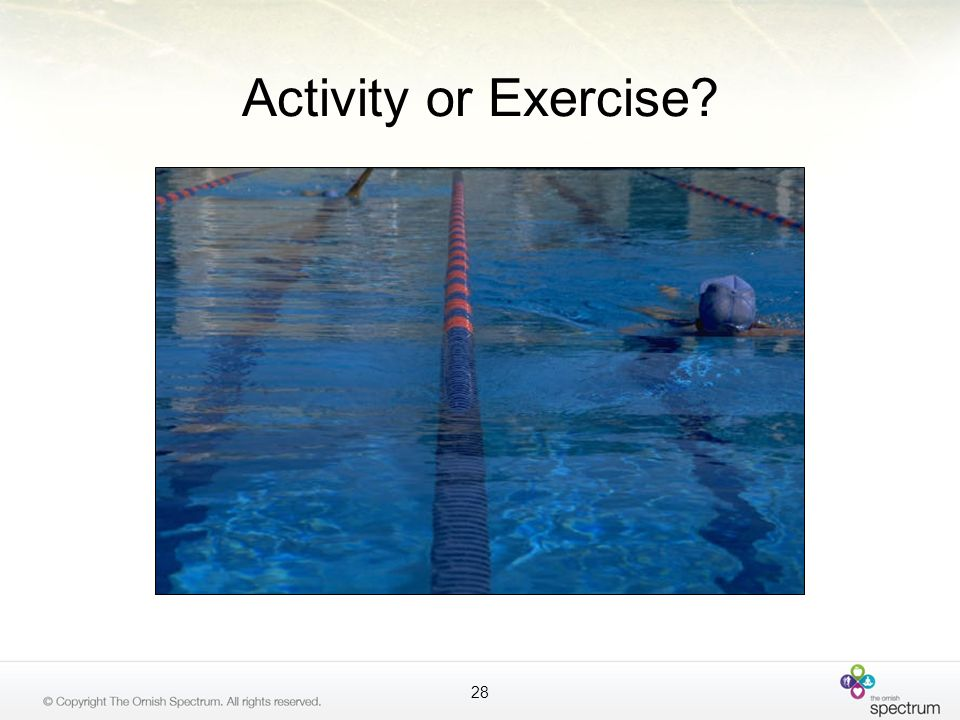 Activity or Exercise TALKING POINTS: