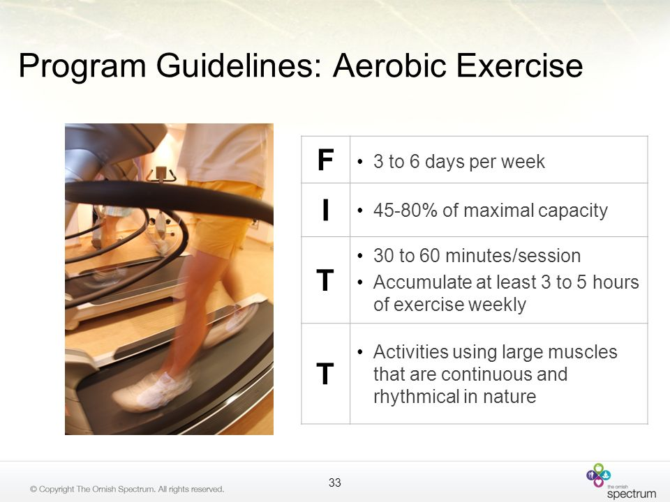 Program Guidelines: Aerobic Exercise
