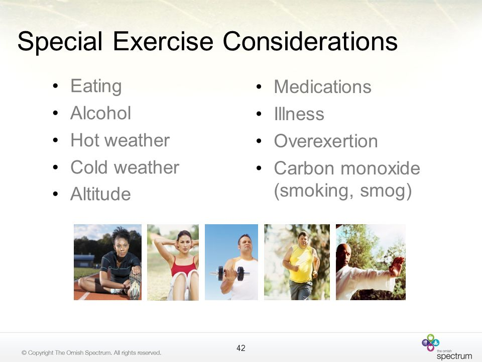 Special Exercise Considerations
