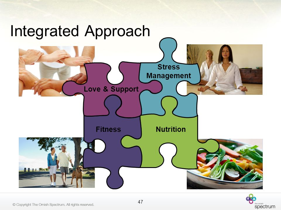 Integrated Approach Love & Support Stress Management Fitness Nutrition