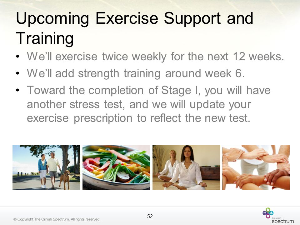 Upcoming Exercise Support and Training