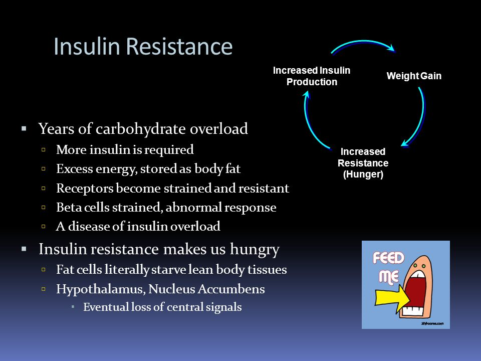 Insulin Resistance Years of carbohydrate overload