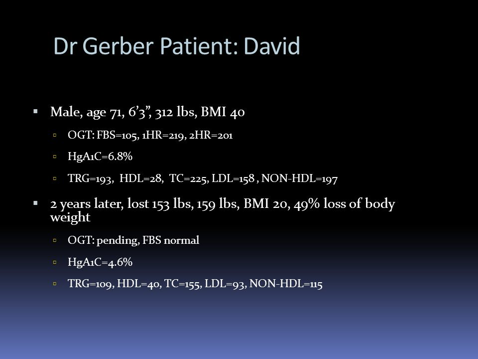 Dr Gerber Patient: David