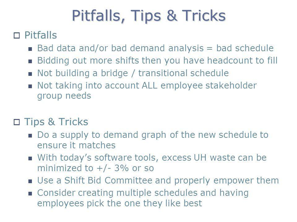 Pitfalls, Tips & Tricks Pitfalls Tips & Tricks