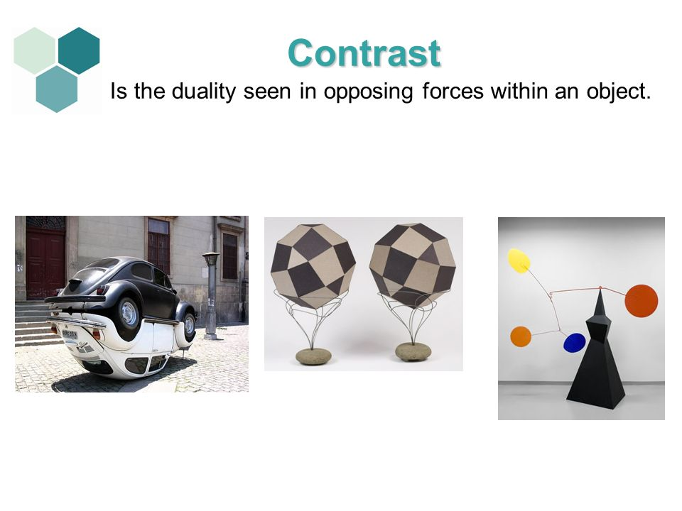 Is the duality seen in opposing forces within an object.
