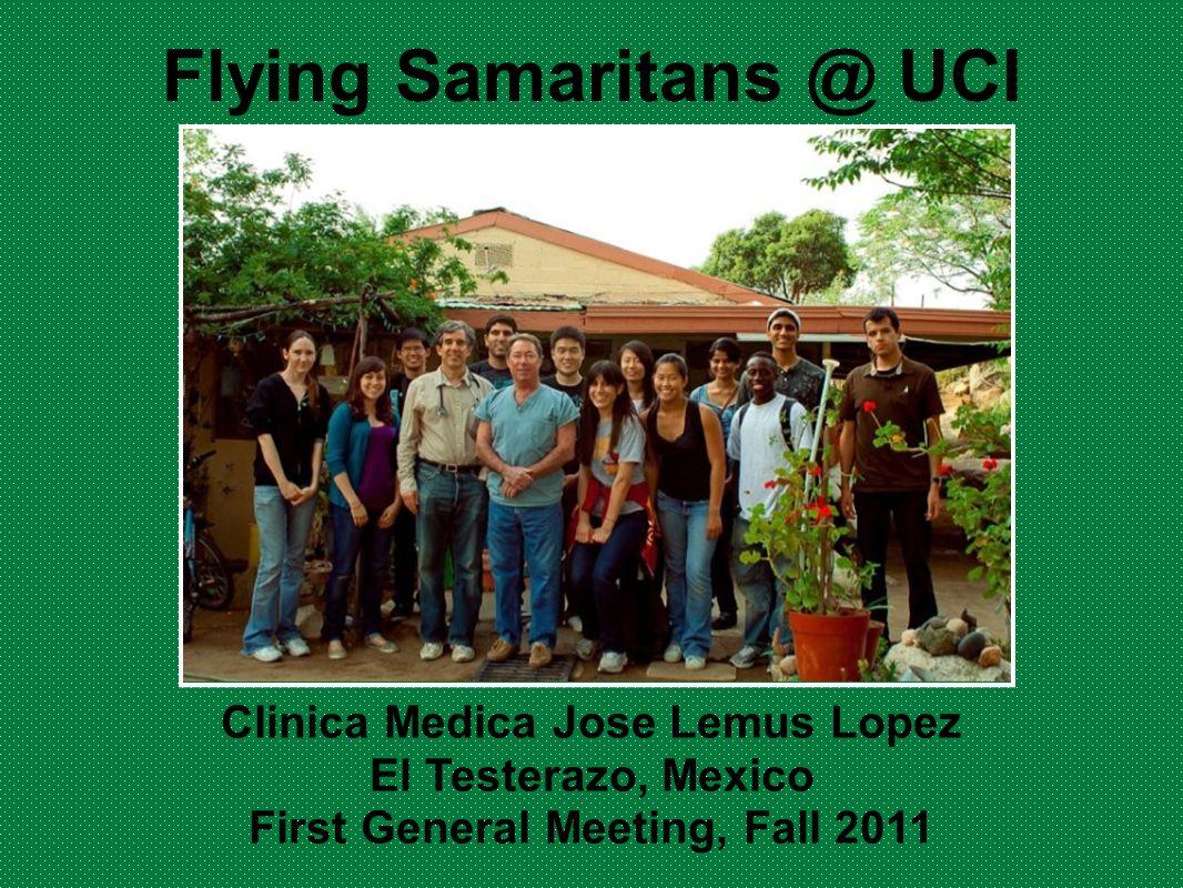 Flying Samaritans @ UCI